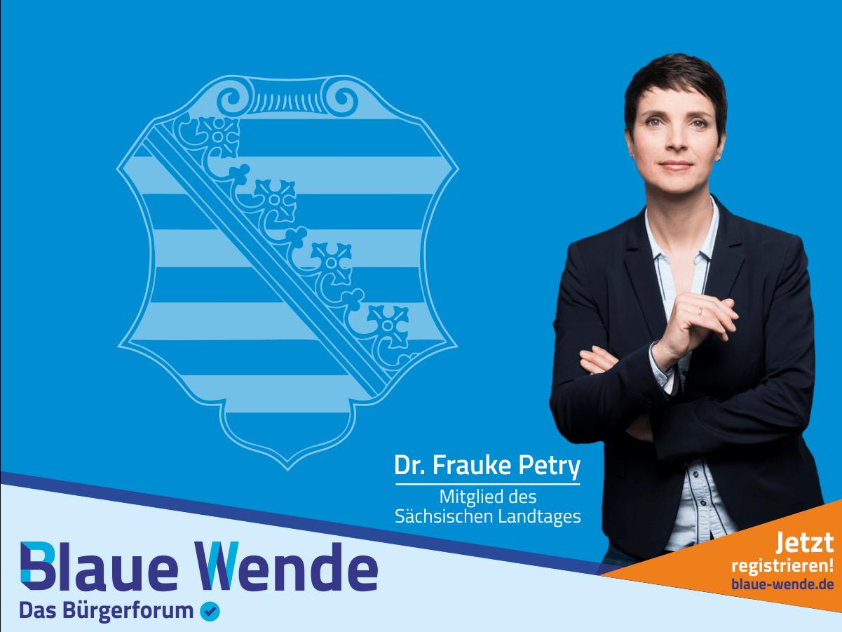 Sächsischer Landtag Frauke Petry