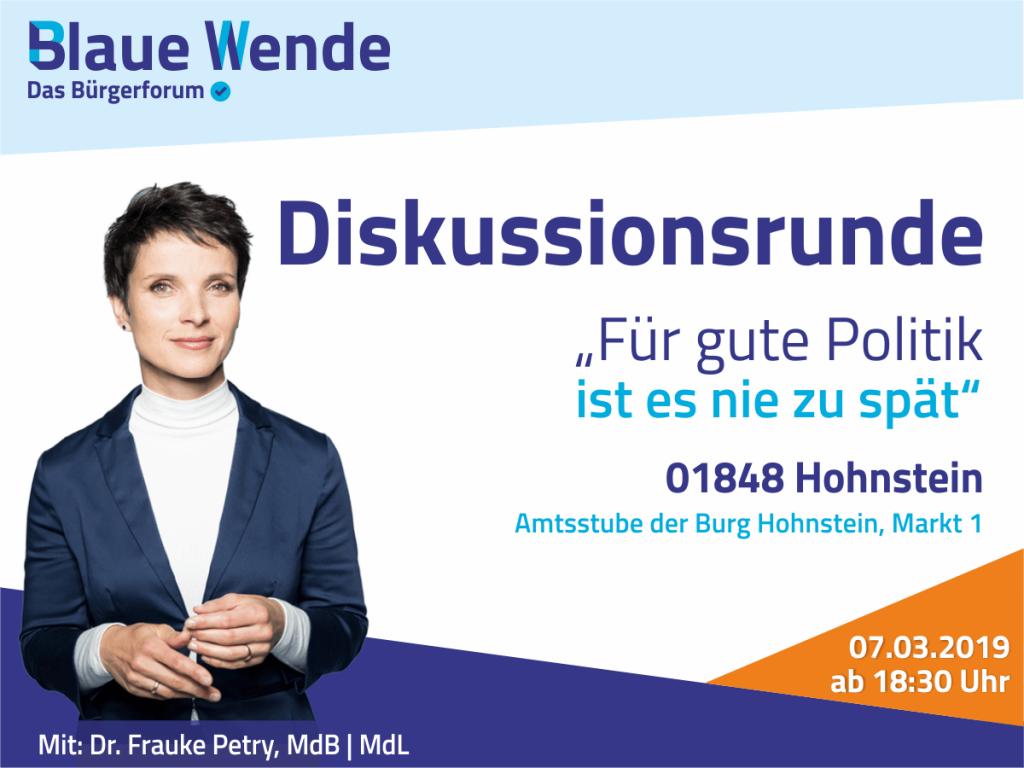 Frauke Petry auf Buirg Hohnstein
