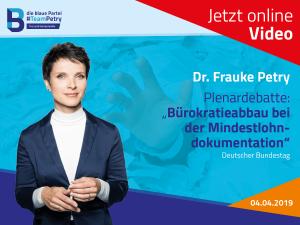 Frauke Petry Mindestlohn