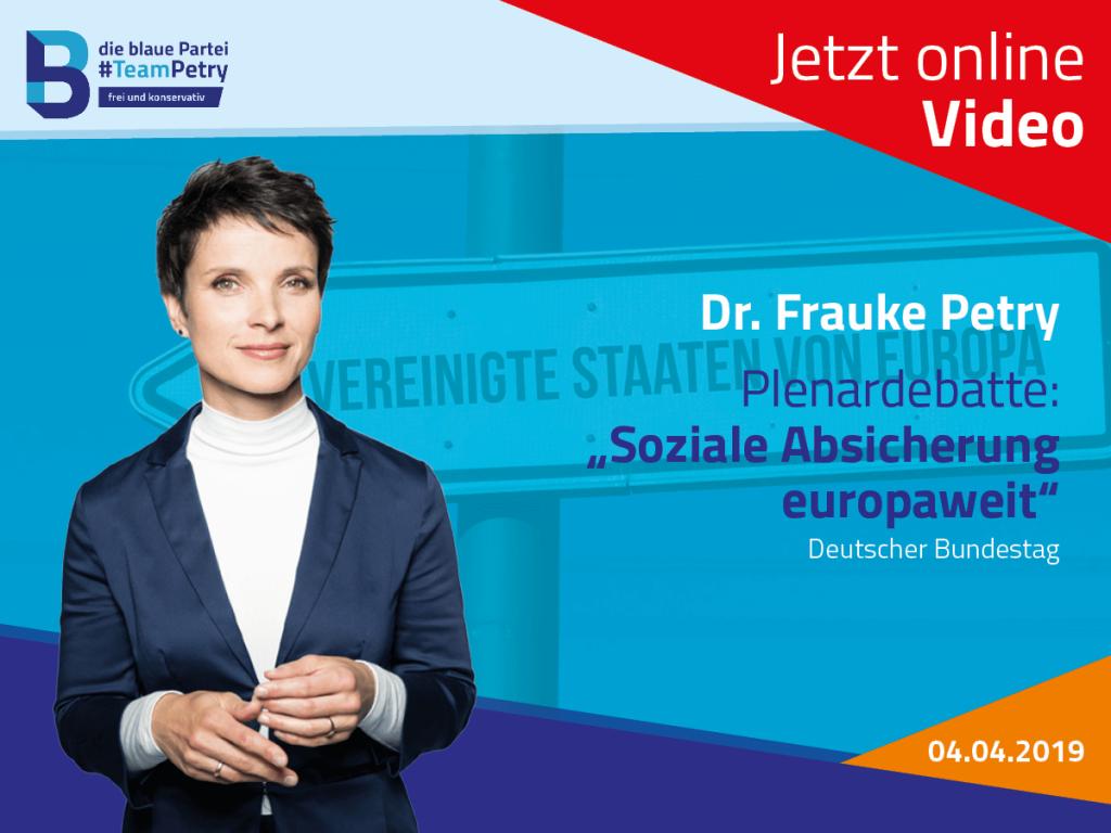Frauke Petry soziale Absicherung
