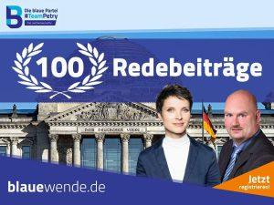 100 Redebeitraege im Bundestag