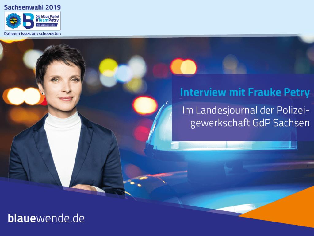 Interview GdP Frauke Petry