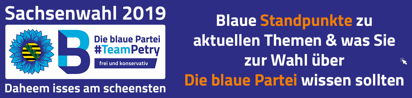 Sachsenwahl Banner Frauke Petry