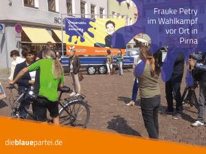 Wahlkampf in Pirna