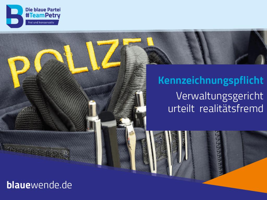 Polizei Kennzeichnungspflicht Frauke Petry